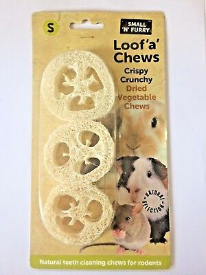 LOOF 'A' CHEWS Natural Dried Loofa Vegetable Gnaw Toy Rabbit Guinea Pig Rat