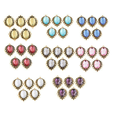 5PCS/Lot Alloy Crystal Stone Pendant for Women Necklace Keychain Accessories