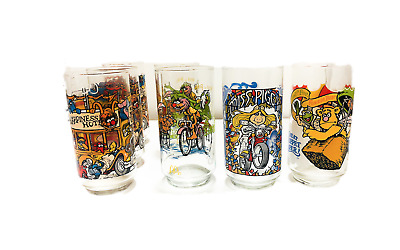 RARE Lot of 7 1981 Vintage Mcdonalds The Great Muppet Caper Vintage Glasses