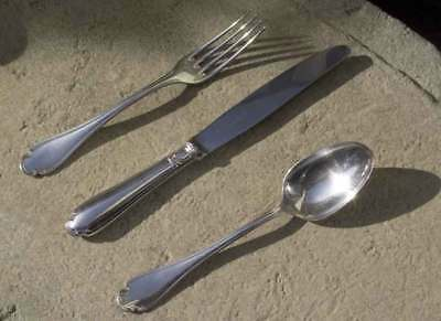 Christofle discontinued pattern Pompadour  12  each -knives -forks -large spoons
