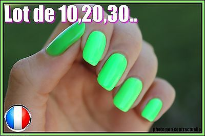 Manucure ❤ Lot Capsules Faux Ongles Vert Américain Nail Art Flashy Sexy ❤  Pro