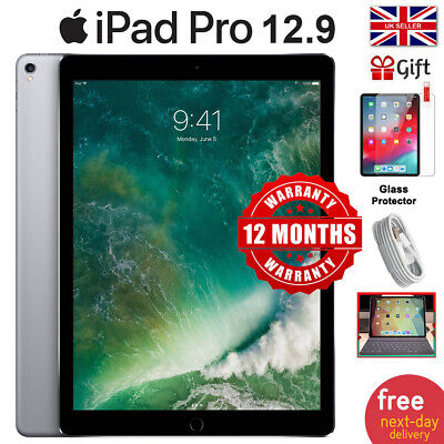 "APPLE iPad Pro 12.9"" 32GB 128GB 256GB Unlocked Wi Fi Cellular 4G UK TOP SELLER"
