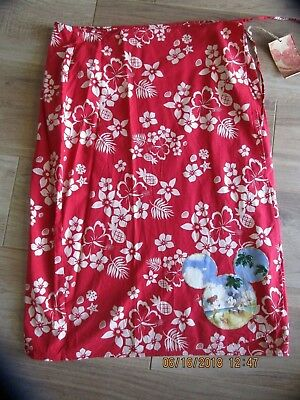 Disney Stores Mickey & Minnie Mouse Sarong Wrap Swim Cover-Up Size XL NWT