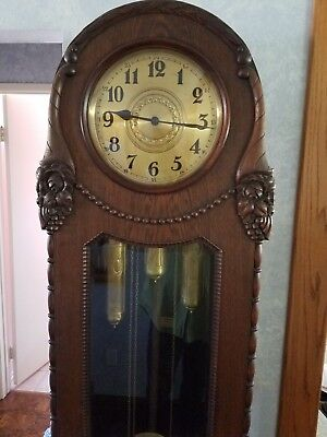 antique grandfather clock - amazing condition - key and WORKS !