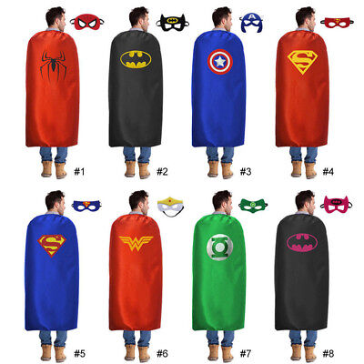 55inch/140cm Adults Superhero Capes and Mask Men Halloween Costume Party Favors*