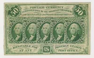 Fr # 1312 50 Cents First Issue Fractional - Washington - Ef - Priced Right!