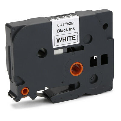 1PK TZe-231 Compatible for Brother P-Touch PT-D210 Black on White Label Tape,8m