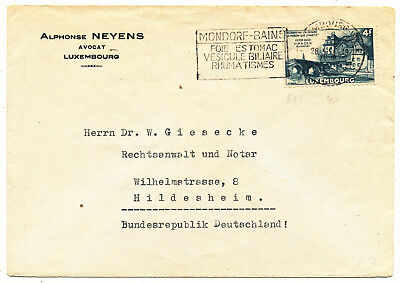 Luxembourg # 513 Cover To West Germany (1953)