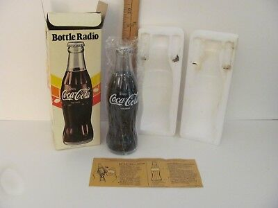 New Sealed Vintage 1970's Coca-Cola Collectibles Coke Bottle Working AM Radio
