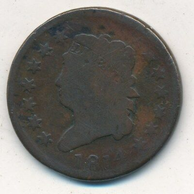 1814 Classic Head Large Cent-Nice Circulated Large Copper Cent-Ships Free!