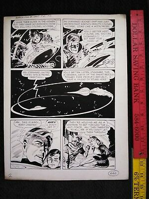 Original comic art By JACK SPARLING SPACEMAN #2 F2 P#2 1961 DELL 1 OF A KIND ART