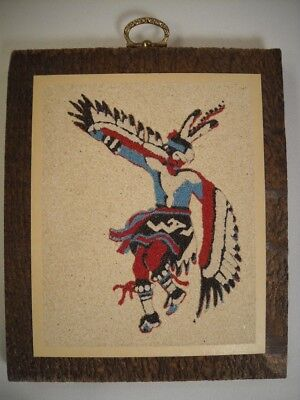 "Rainbow Way Ltd. ""The Eagle Dance Ceremony"" Sand Painting Picture 6"" x 5"""