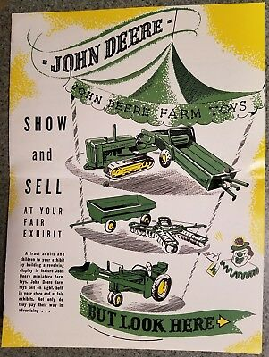 John Deere Farm Toys Tractor Cycle Dealer Show And Sell Brochure And Order Form