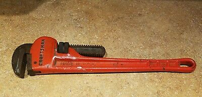 Craftsman Tool 18 Heavy Duty Self Adjusting Pipe Wrench No. 51653 USA Made