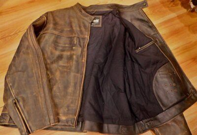New Schott NYC Cowhide antiqued Leathers distress RARE Jacket Made in USA