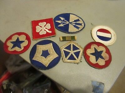 u,s, army world war 2 7 ASSORTED PATCHES