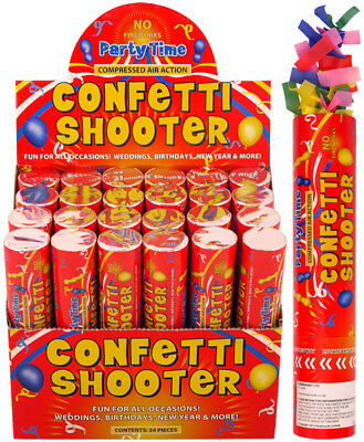 Handheld Confetti Shooter Cannons Poppers Foil Streamer Wedding Party 20cm OOTB