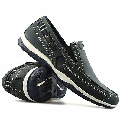 Mens New Leather Slip On Casual Boat Deck Mocassin Loafers Driving Shoes Size