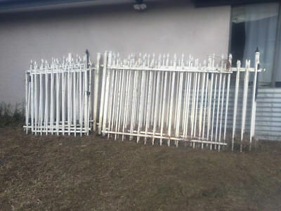 Pool Fence Heavy Duty Steel - Approx 25m including 3 gates - White