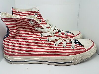 dde2afc79132 Converse Chuck Taylor All Star American Flag Stars Stripes 5.5 Men s 7.5  Women s