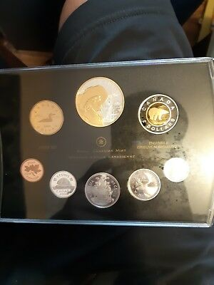 2008 Canadian proof set with the special silver dollar