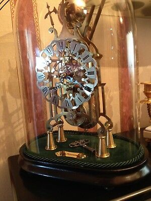 VICTORIAN STYLE KENNINGTON fusee skeleton clock perfect condition fully working
