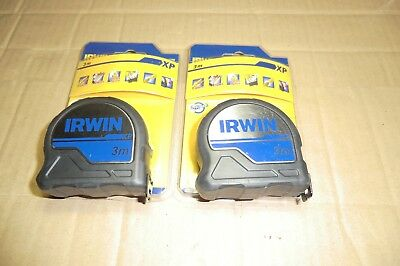 2 X Irwin 3M Xp Protouch Tape Measures New