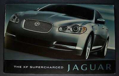 2010 Jaguar XF Supercharged Catalog Sales Brochure Excellent Original
