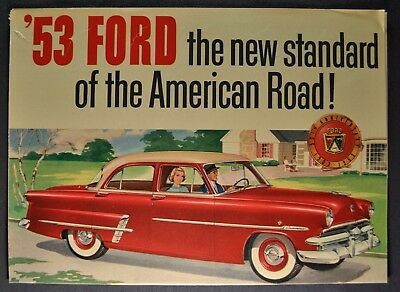 1953 Ford Brochure Folder Crestline Mainline Customline Original 53 Not aReprint
