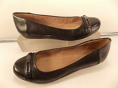 Easy Spirit (Brand New) Black Soft Leather Cap Toe Ballet Flat 6 M $125.00!