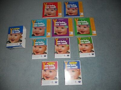 Childrens Educational Learning Your Baby Can Read Complete Set 5 Books & 5 DVDs