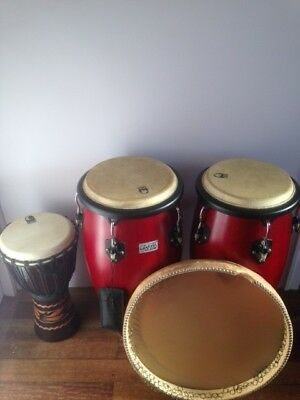 Percussion bundle of hand drums: Congas, Djembe, Daf.