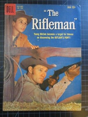 Dell Four Color #1009 Aka The Rifleman #1 Chuck Connors Vvhtf 1959