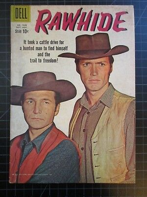 Dell Four Color #1028 Aka Rawhide #1 Clint Eastwood Cover Vvhtf 1959