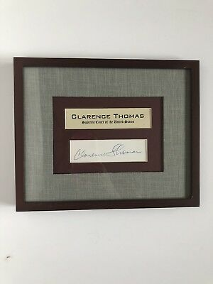 CLARENCE THOMAS Supreme Court Justice Framed Autograph - CERTIFIED AUTHENTIC