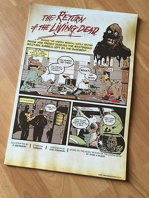 Limited Edition - Return of the Living Dead Comic Book Poster Print - A3 Signed