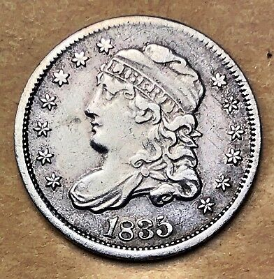 1835 Bust Capped Half Dime XF/AU