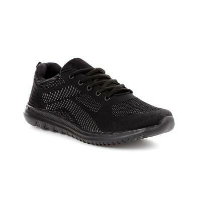 Mens Trainer Lace Up Trainer in Black by Podium