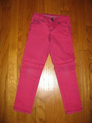 Girls Justice Hot Pink Jeans size 6 regular low rise