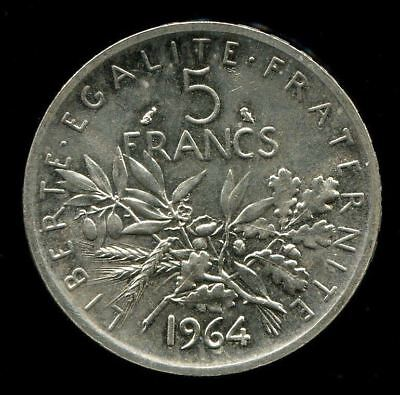 France 1964 5 Francs Km#926 Silver Coin        W10353#18