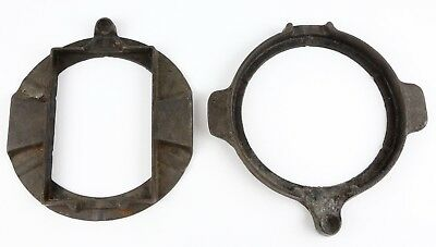 Antique Jotul Cast Iron Stove Top Waffle Pot Pan Bases Norway Vintage Lot of 2