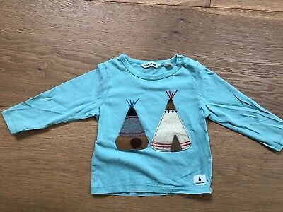 Country Road Baby Boy Teepee Long Sleeve Green T-shirt Size 0