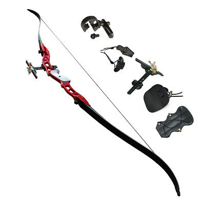 """Archery Recurve Hunting Bows 66"""" Right Handed Sight Set Competition Youth"""