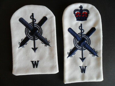 Royal Australian Navy TRADE BADGES x 2 - UNDERWATER WEAPONS