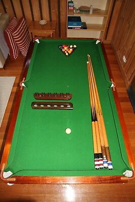 Pool Table Slate Base (6ft x 3ft, 4 inches) Includes Accessories