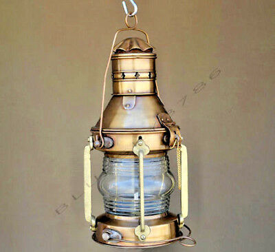 NAntique Marine Ship Lantern Boat Light Anchor Lamp Cargo Ship Oil Kerosene Lamp