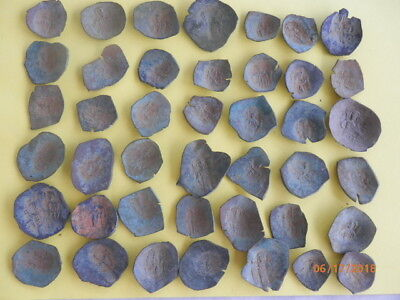 45 + ancient  byzantine coins with chrhistian figures icons