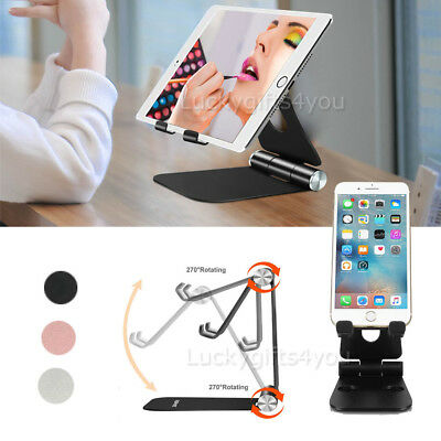 Universal Folding Aluminum Tablet Mount Holder Stand For iPad iPhone Samsung OZ