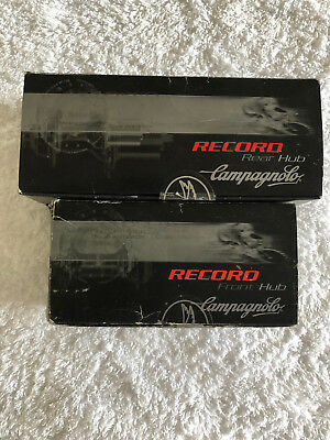 Campagnolo Record 9/10/11 Speed Silver Hubset 32 Hole NOS in Boxes + Skewers