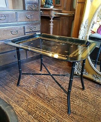 Black Laquer Occasional Table Made in Italy